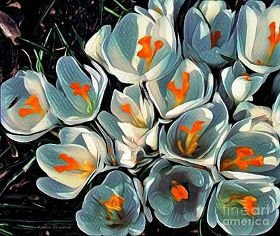 Photograph - Crocus In The Shadows by Kathie Chicoine