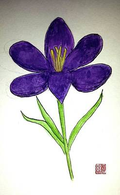 Painting - Crocus by Margaret Welsh Willowsilk