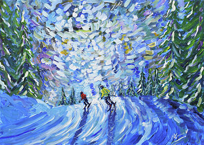 Painting - Crocus Piste by Pete Caswell