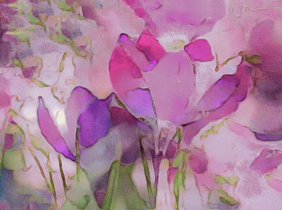 Mixed Media - Crocus So Pink by Susan Maxwell Schmidt