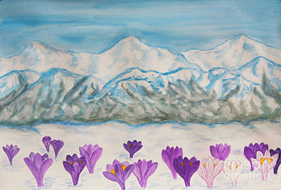Painting - Crocuses In Hills by Irina Afonskaya