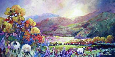 Painting - Croeso I Cymru by Bonny Roberts