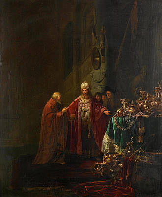 Painting - Croesus Showing His Riches To Solon by Willem de Poorter