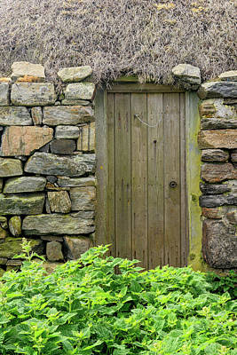 Berneray Photograph - Croft Door by Michael Blanchette