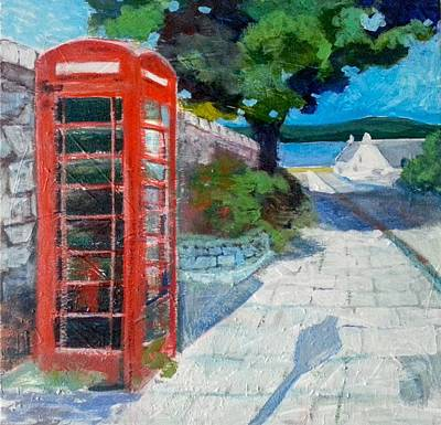 Painting - Cromarty Phone Box by Stephanie  Maclean