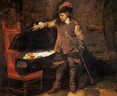 Cromwell Painting - Cromwell Before The Coffin Of Charles by MotionAge Designs