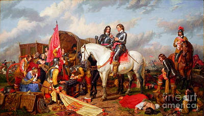 Cromwell Painting - Cromwell In The Battle Of Naseby by Celestial Images