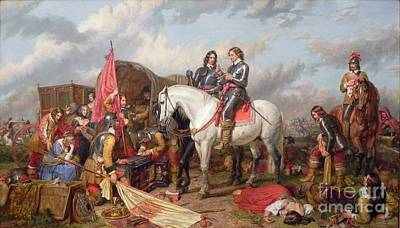Landseer Painting - Cromwell In The Battle Of Naseby by MotionAge Designs
