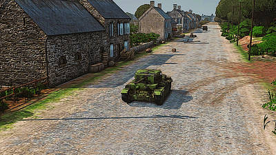 Painting - Cromwell Tank Mkv In Normandy by Andrea Mazzocchetti