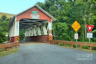Photograph - Cromwell Township Covered Bridge by Adam Jewell