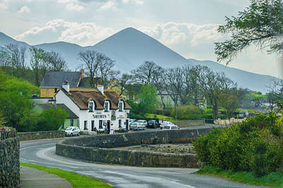 Digital Art - Cronins Sheebeen In The Shadow Of Croagh Patrick Mountain by Bill Cannon