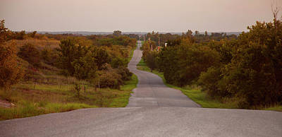 Photograph - Crooked Country Road In Oklahoma by Toni Hopper