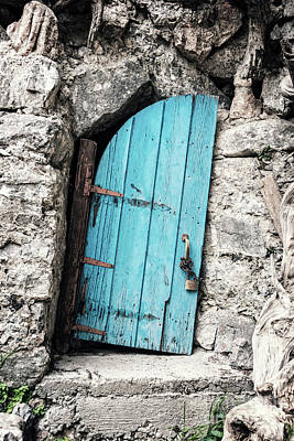 Crete Painting - Crooked Door by Delphimages Photo Creations