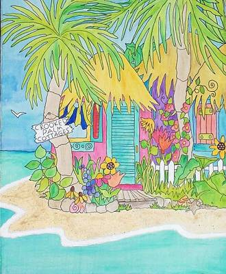 Painting - Crooked Palm Cottages  by Coni Brown