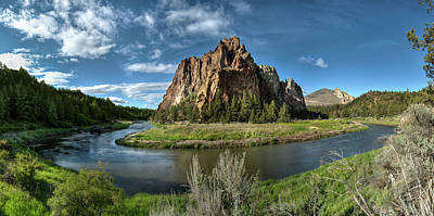 Photograph - Crooked River And Smith Rock by Ken Aaron