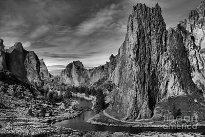 Redmond Photograph - Crooked River Black And White by Adam Jewell
