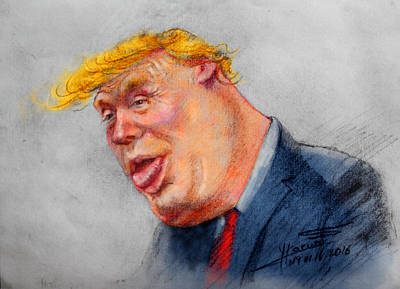 Donald Drawing - Crooked Trump by Ylli Haruni