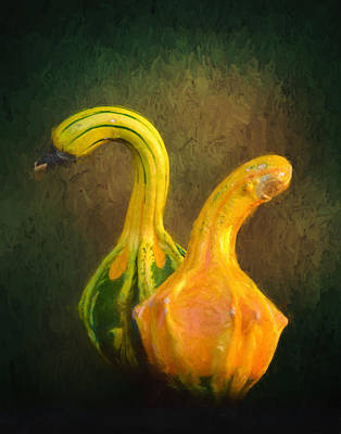 Photograph - Crookneck Squash by David and Carol Kelly