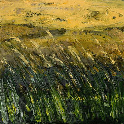 Crop Field Semi-abstract Original by Alexandra Kiczuk