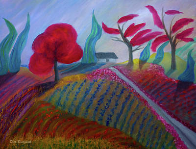 Painting - Croplands by Dick Bourgault