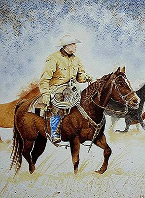 Painting - Cropped Ranch Rider by Jimmy Smith