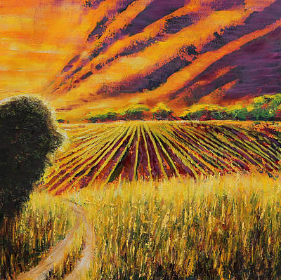 Dirt Roads Mixed Media - Cropuscular Light by Patricia Pasbrig