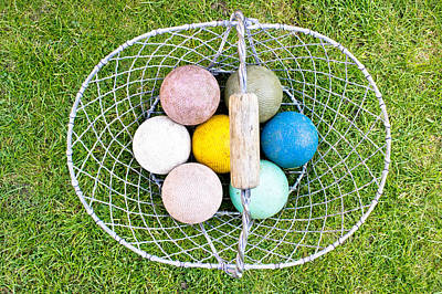 Croquet Balls Art Print by Tom Gowanlock