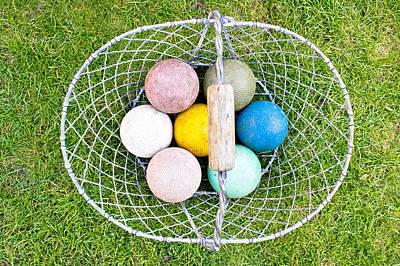 Croquet Balls Print by Tom Gowanlock