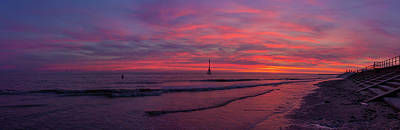 Photograph - Crosby Beach Sunset Panorama by Paul Madden