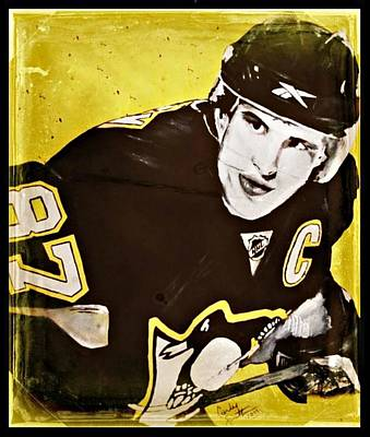Sidney Crosby Painting - Crosby by Carly Jaye Smith