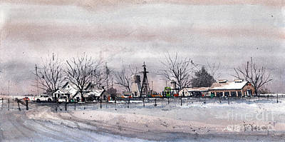 Painting - Crosby County Farm by Tim Oliver