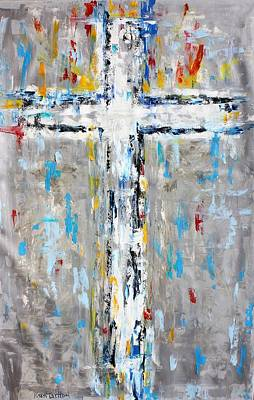 Painting - Cross Abstract by Karen Tarlton