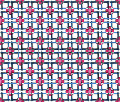 Slavic Digital Art - Cross Abstract Textile Pattern by Jozef Jankola
