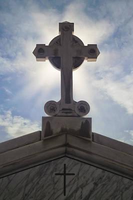 Grave Photograph - Cross Against The Sky by Joana Kruse