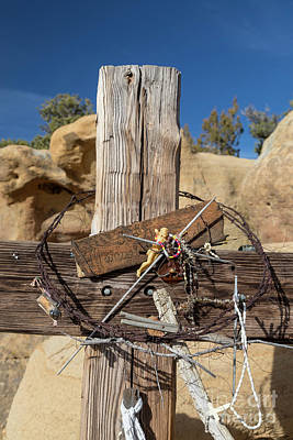 Photograph - Cross And Barbed Wire Crown by Jim West