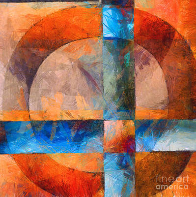 Jesus Photograph - Cross And Circle Abstract by Edward Fielding