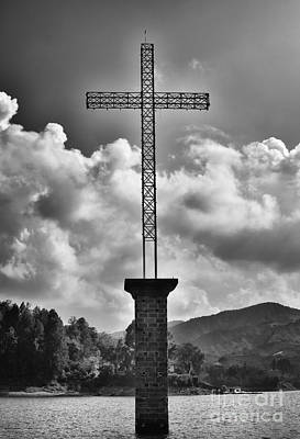 Guatape Photograph - Cross At Guatape by Photography by Orlando Antelo