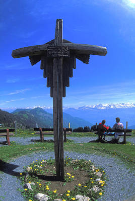 Photograph - Cross At Rigi In Switzerland by Carl Purcell