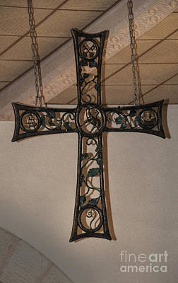 Photograph - Cross At St. Magdalena Church by Mae Wertz