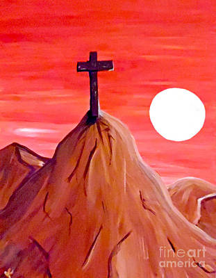 Cross At Sundown Original by Jilian Cramb - AMothersFineArt