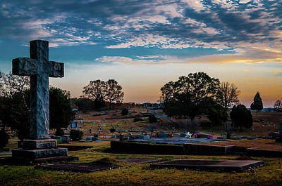 Photograph - Cross At Sunset by James L Bartlett