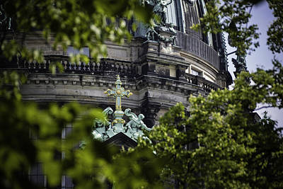 Photograph - Cross, Berlin Cathedral, Germany by Printed Pixels