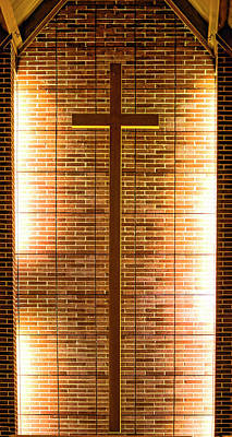 Photograph - Cross - Bethany United Methodist  Church - Madison by Steven Ralser