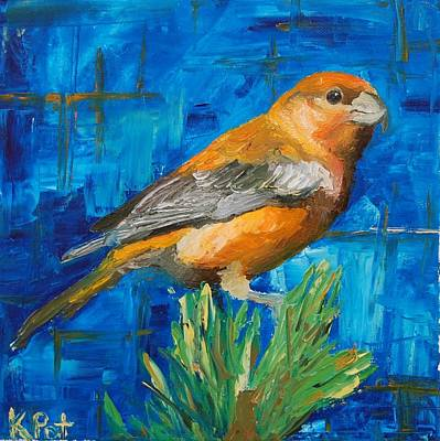 Crossbill Painting - Cross Bill by Katherine Potter