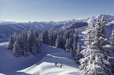 Natural Forces Photograph - Cross-country Skiing In Aspen, Colorado by Annie Griffiths