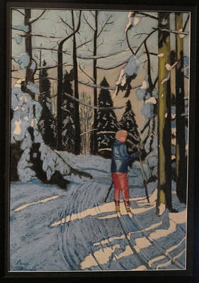 Painting - Cross Country Skiing In Upstate Ny by Dana Schmidt