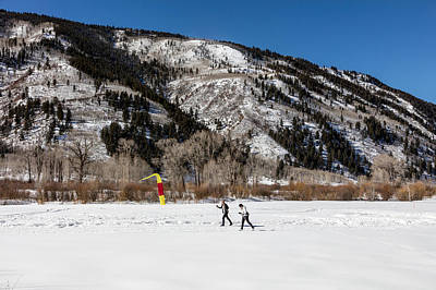 Photograph - Cross-county Skiers Outside Aspen by Carol M Highsmith