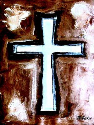 Sacrificial Painting - Cross For Me by Marsha Heiken
