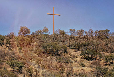 Photograph - Cross In Texas Hill Country by Judy Vincent