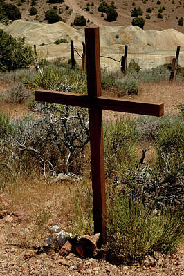Angel Photograph - Cross In The Desert by LeeAnn McLaneGoetz McLaneGoetzStudioLLCcom
